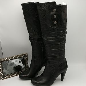 Guess Gillian Tall Black Leather Boots size 6 1/2M